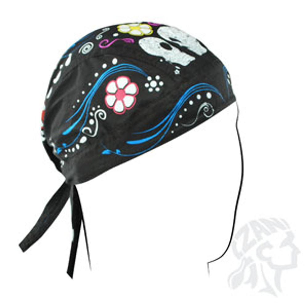 Flydanna, 100% Cotton, Sugar Skull, Black