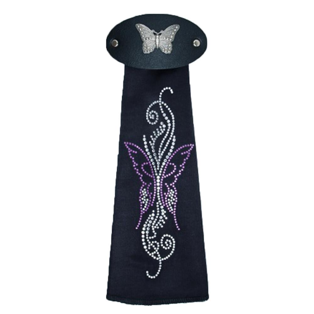 Spandex HairTube -Purple Butterfly On Vine by WarHawkCustoms
