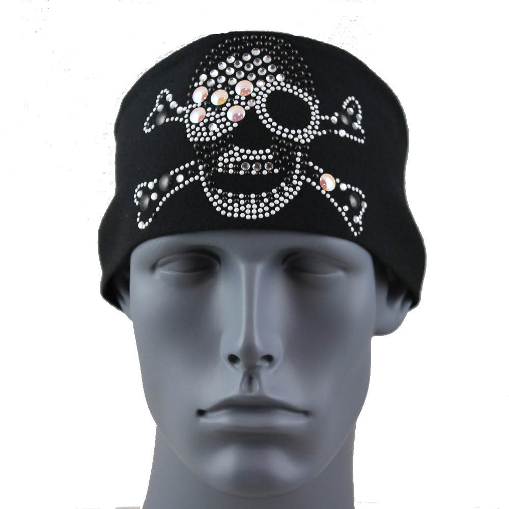 Sunspark Pirate Skull & Crossbones Stretch HeadBand