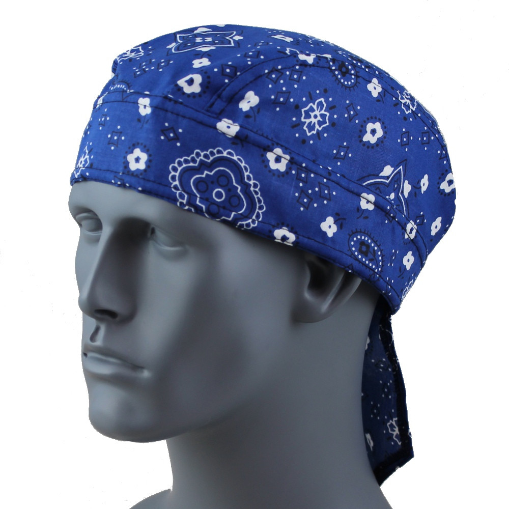 Paisley Royal Blue - Velcro Closure
