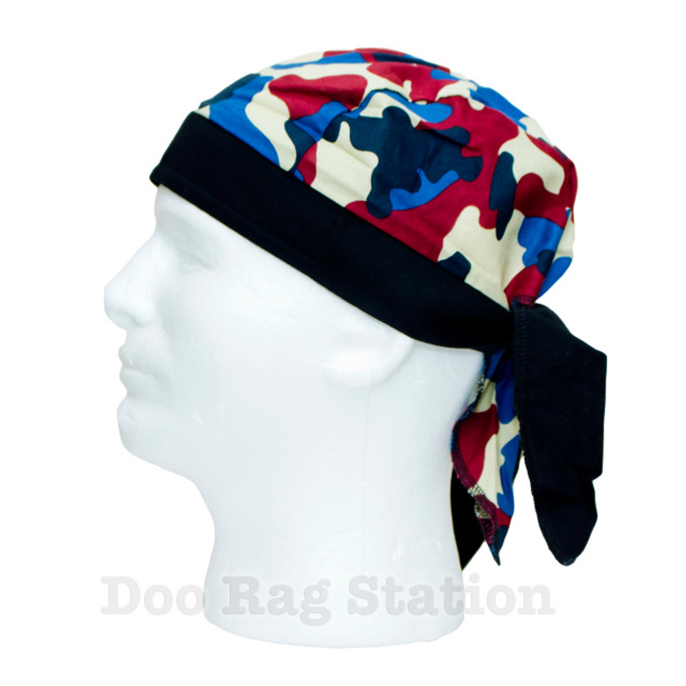 Camo - Red, Blue, and Cream By Doo Rag Station