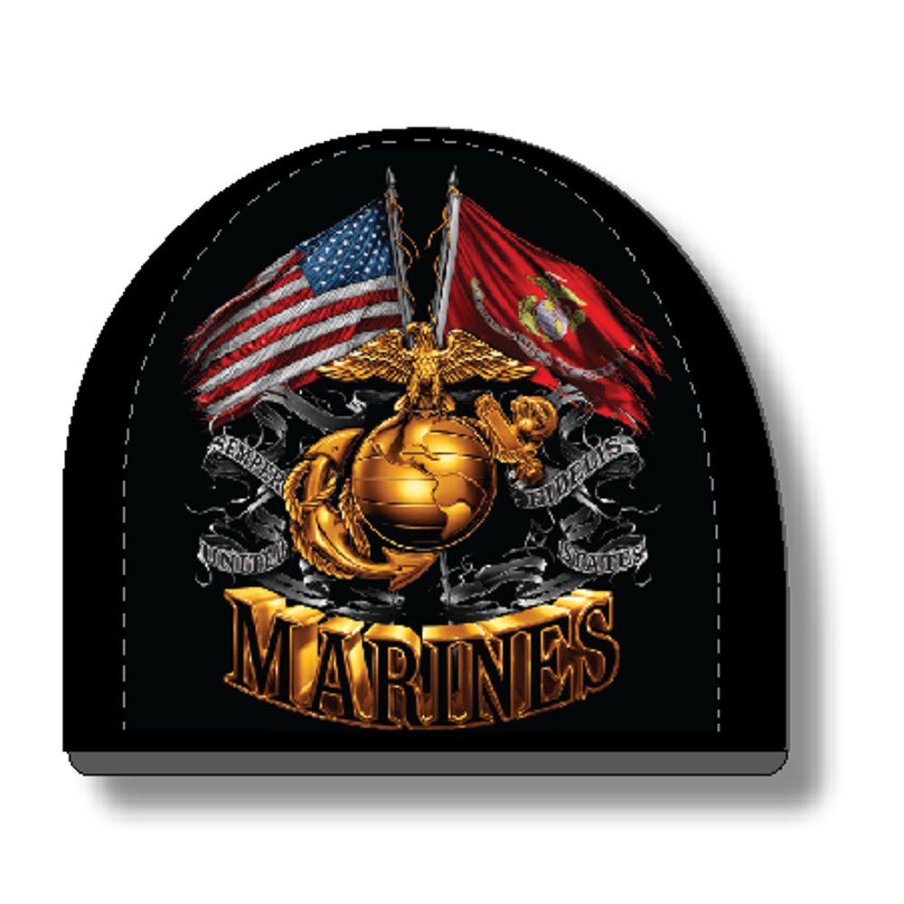 "Beanie - ""USMC Flags"" By American Mills"