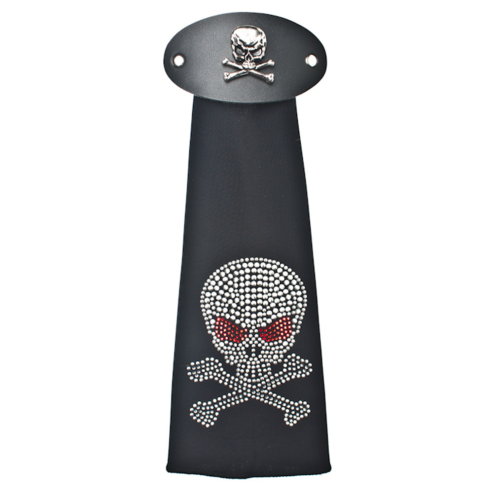 Spandex HairTube - Rhinestone Skull by WarHawkCustoms