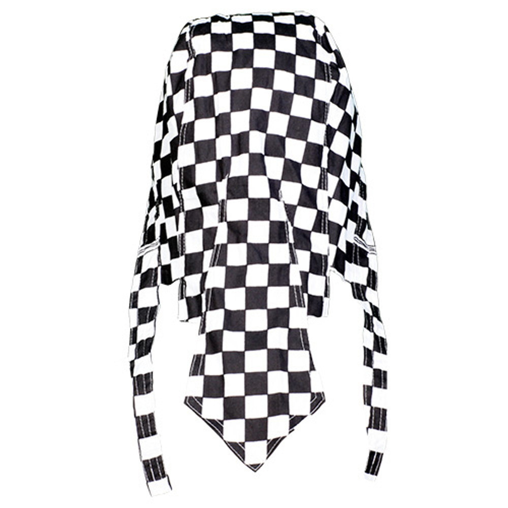 "Rider Headwrap - Checker 1"" - Black/White Squares"