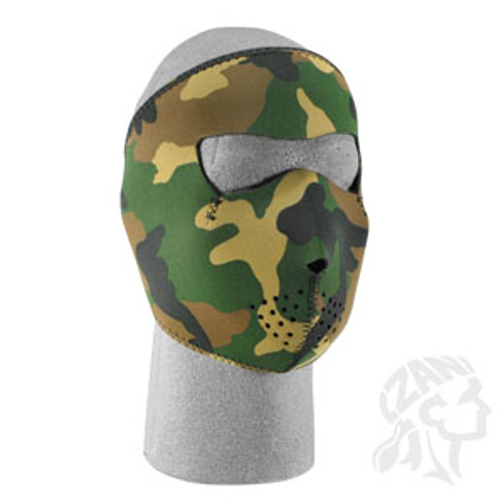 Woodland Camo - Neoprene Face Mask