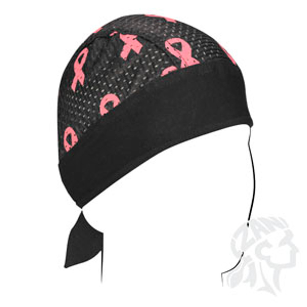 Flydanna - Vented Sport - Breast Cancer Pink Ribbon - Black