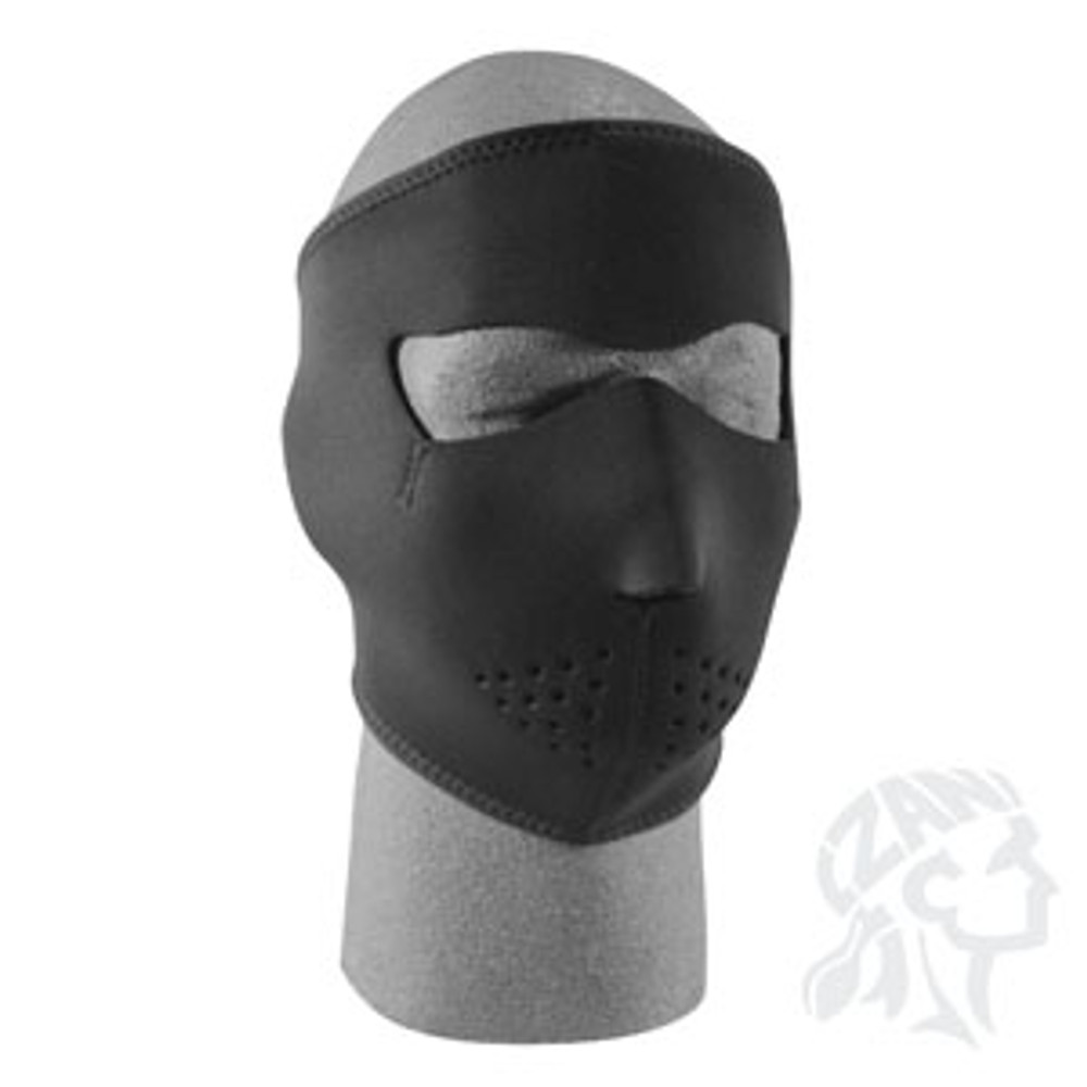 Solid Black - Neoprene Face Mask