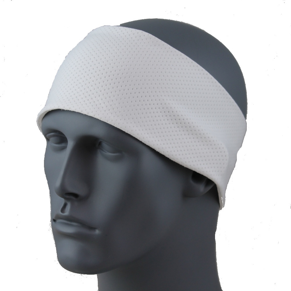 "White SoftSpun Stretch 3.5"" HeadBand By DesignWraps"
