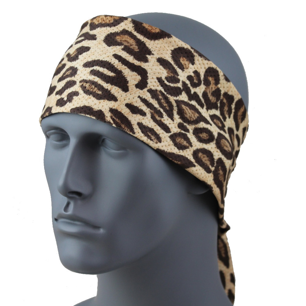 "Faux Leopard SoftSpun Stretch 3.5"" HeadBand By DesignWraps"