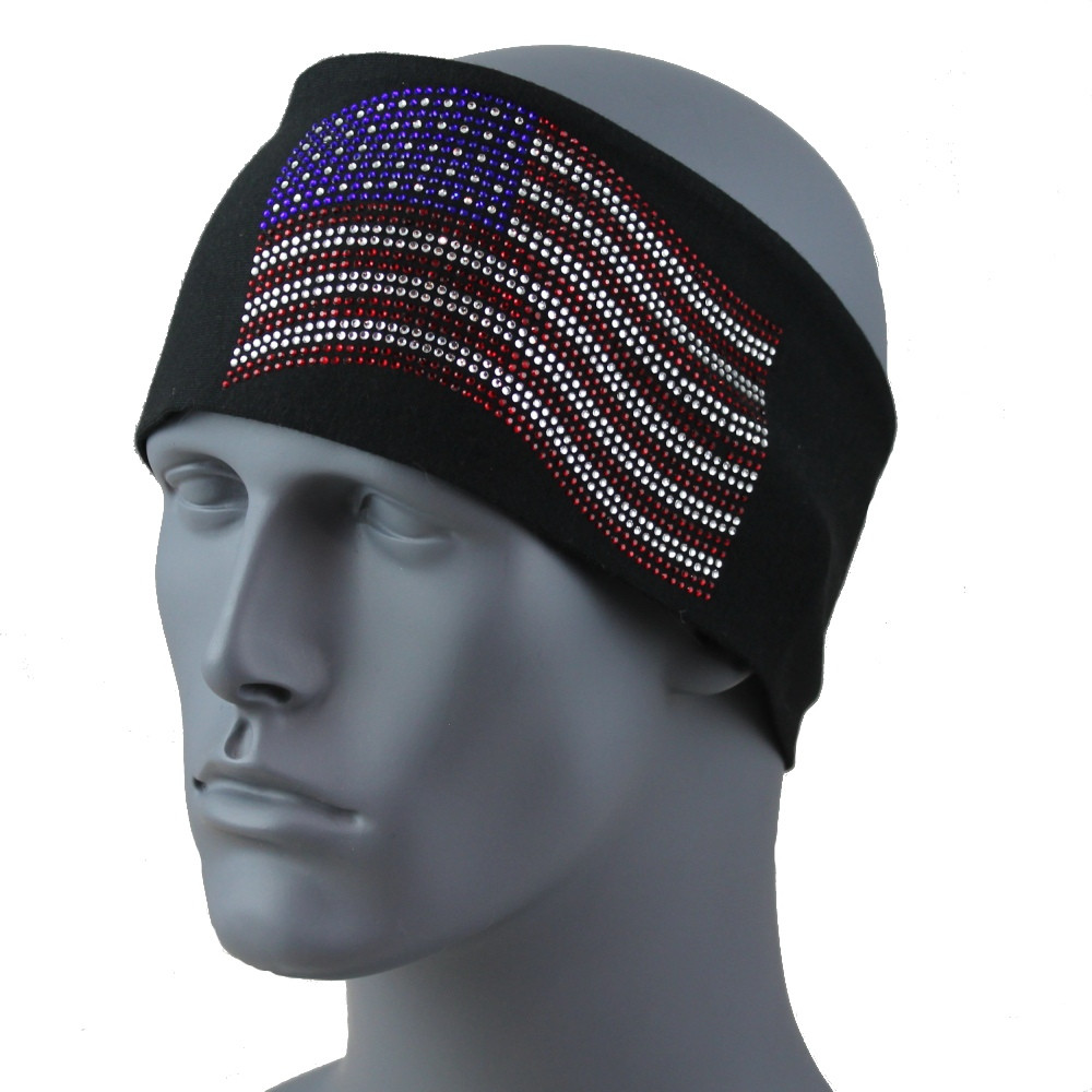 "American Flag 3.5 in. headband 3.5"" Headband By DesignWraps"
