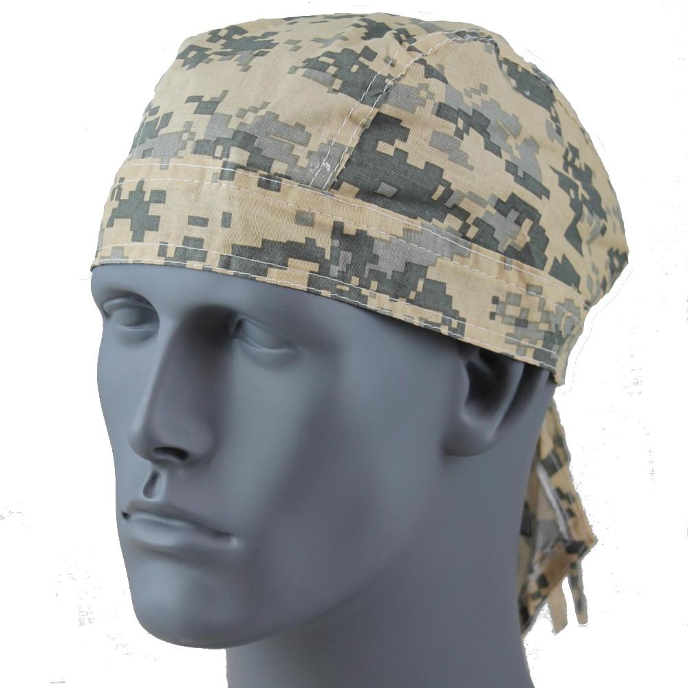 Rider Headwrap - Military Camo Green