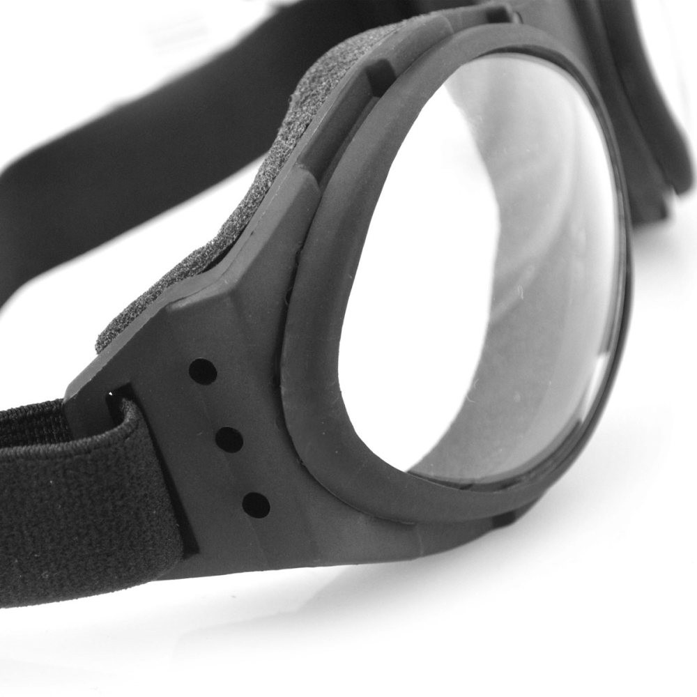 Goggles - Motorcycle - Bugeye - Black Frame - Smoked Lens