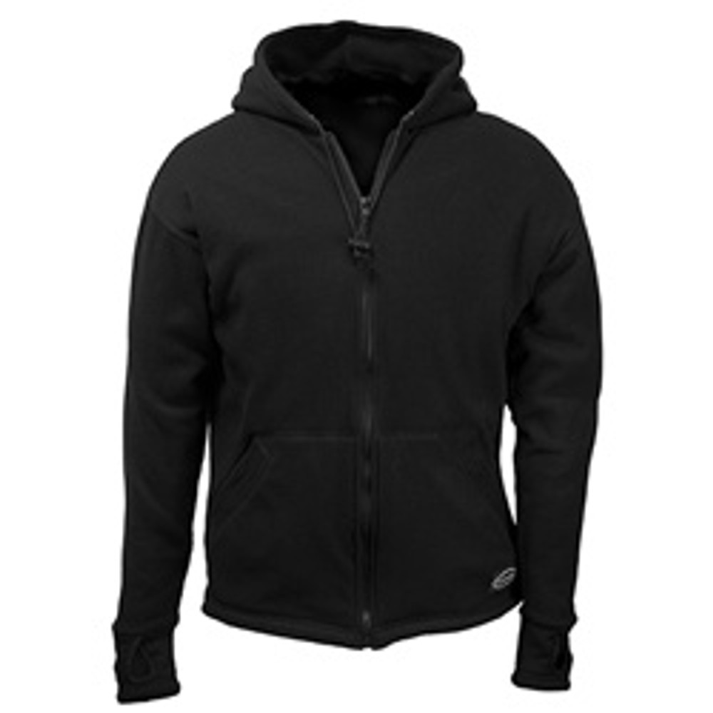 Black Fleece Lined Zippered Hoodie