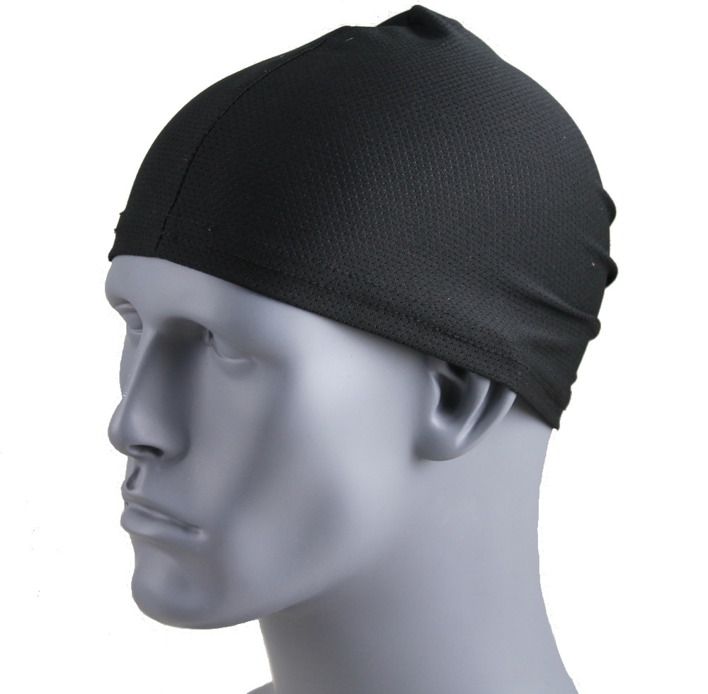 Traditional Stretch Skullcap - Black (Mesh)