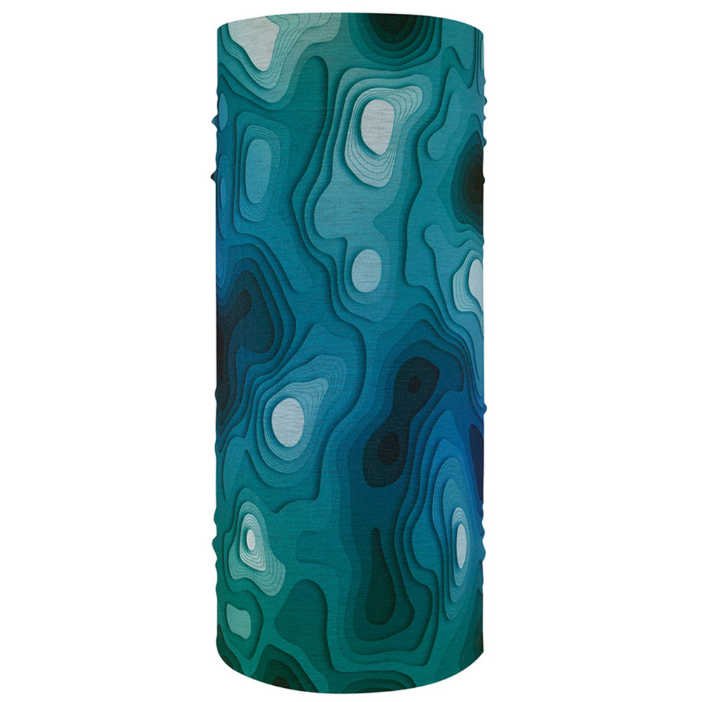 Motley Tube, 100% Polyester, Aqua, Multifunctional Headwear