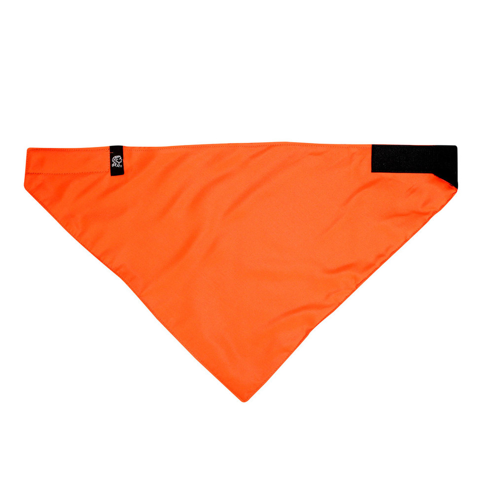 3-IN-1 Headband - Face Mask System, Fleece lined, High-Visibilty Orange, Hook & Loop, 100% Cotton