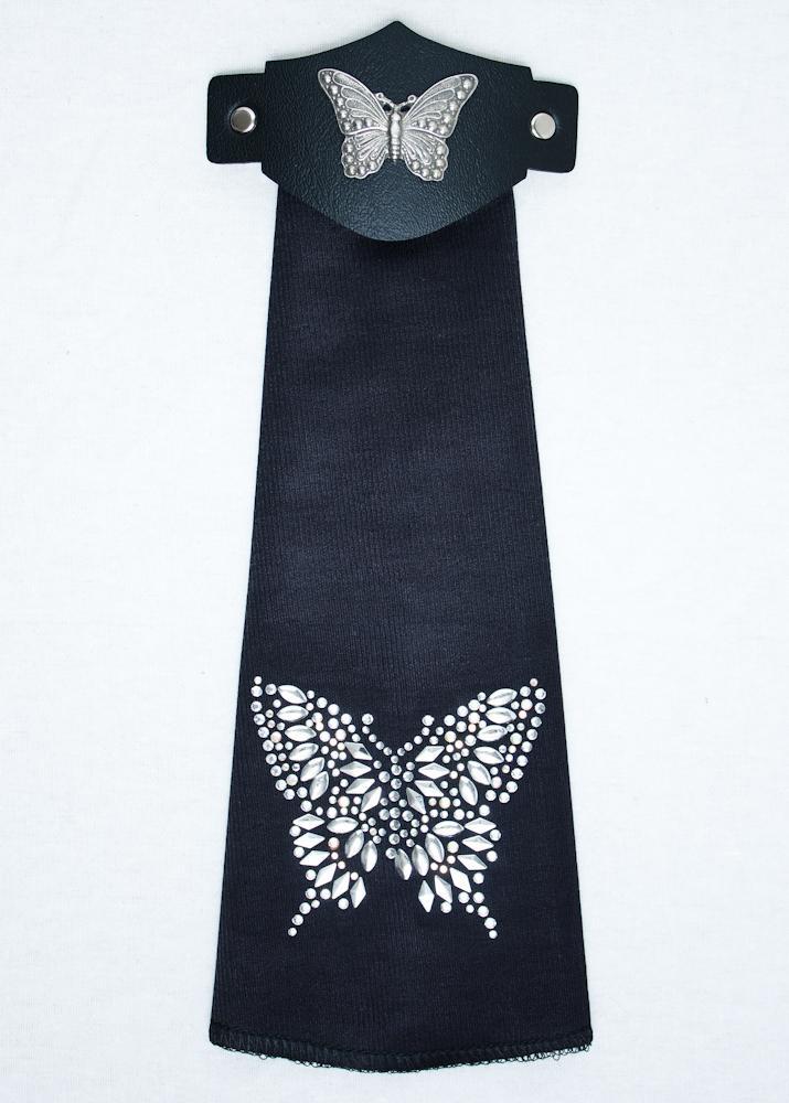 Spandex HairTube - Silver Butterfly