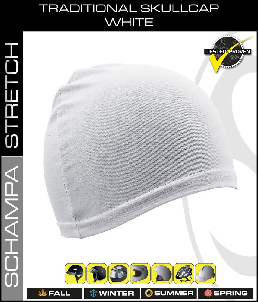 Traditional Stretch Skullcap - White