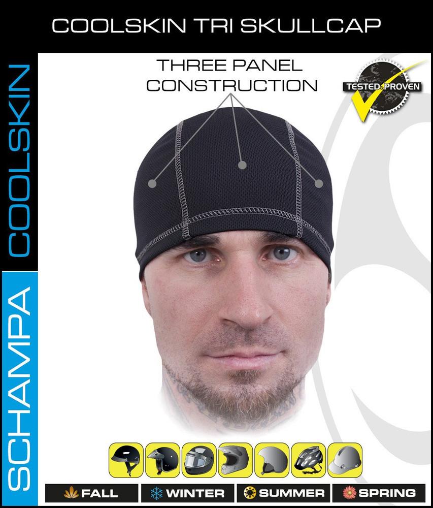CoolSkin Tri Skull Cap - Grey