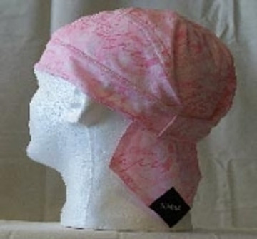 Breast Cancer Pink Ribbon Bandanna W/Velcro closure - Large Ribbons