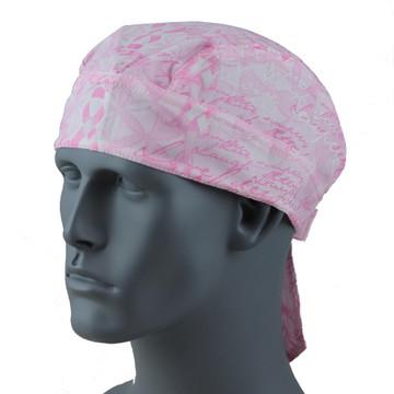 Breast Cancer Pink Ribbon Bandanna W/Velcro closure - Large Ribbons