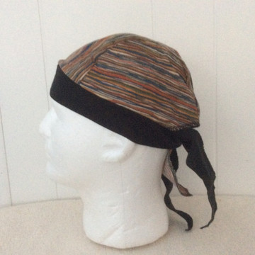 Brown - Blue - Red Stripes - By Doo Rag Station