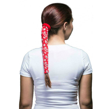Wrapter Hair Tube - Red Paisley