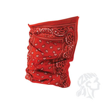 Motley Tube, 100% Polyester, Red Paisley, Multifunctional Headwear