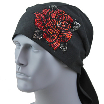 Red Rhinestone Rose Stretch TotalWrap