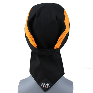 Black With Orange Side Panels With Hook & Loop Strap - From NoMoreKnots