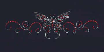 Clear And Red Butterfly Total Wrap By DesignWraps
