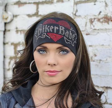 "Biker Babe 3.5"" Headband By DesignWraps"