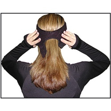 Fleece Double Layer Pony Tail Headband