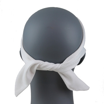 "White SoftSpun Stretch 3.5"" HeadBand By DesignWraps"