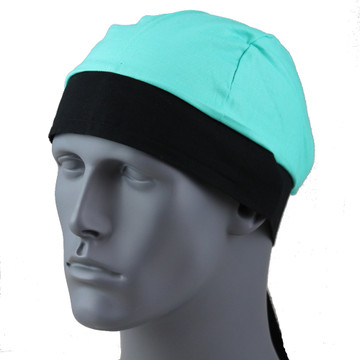 Turquoise - Black Band By Doo Rag Station