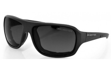 Bobster Informant EINF001AR Rectangular Sunglasses,Black Frame/Smoke Lens
