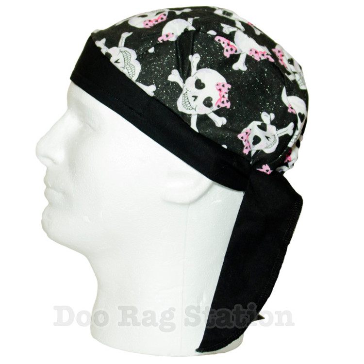 Skulls - Pink Bows By Doo Rag Station