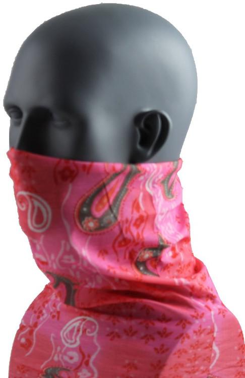 Schampa Tube, Pink Snake Paisley, Multifunctional Headwear