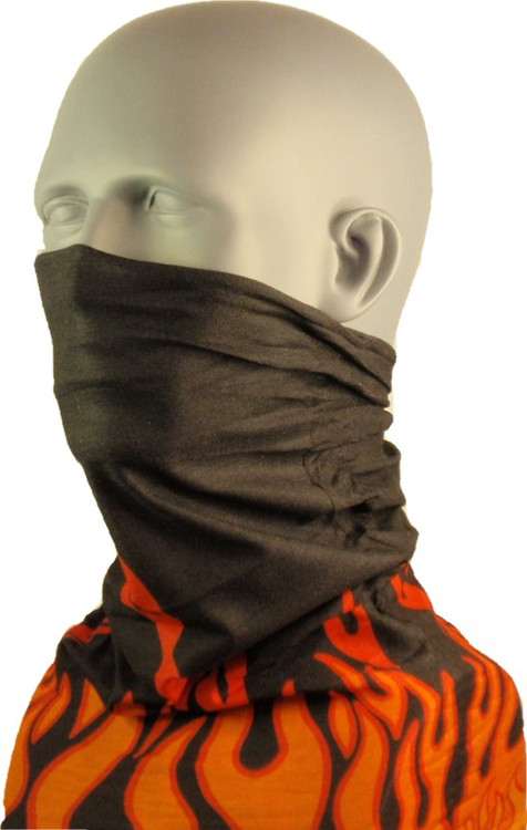 Schampa Tube, Black and Orange Flames, Multifunctional Headwear
