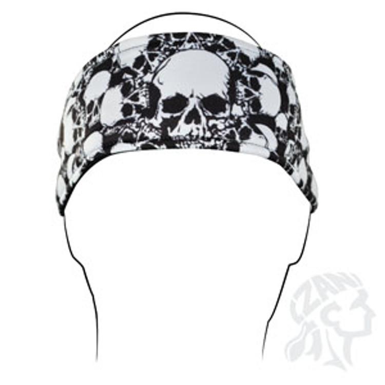 Headband, All Over Skull