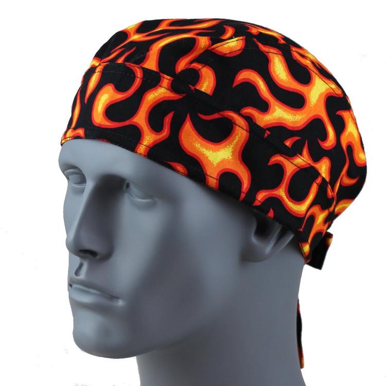Flames Orange - Velcro Closure
