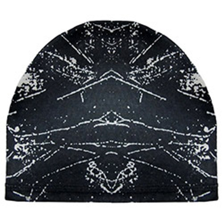 Stretch Skull Cap - Black & White Fusion