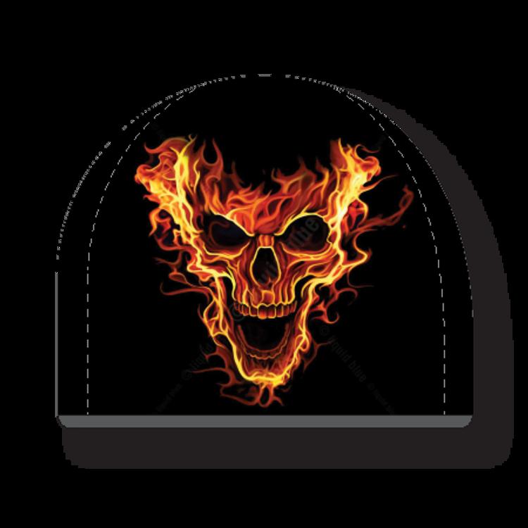 Beanie - Flaming Skull