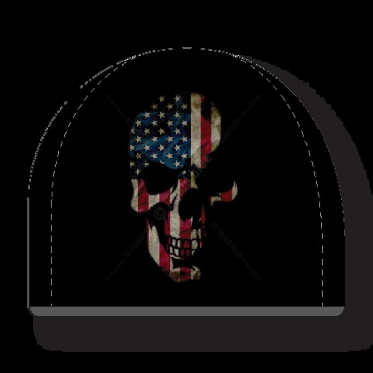 Beanie - USA Flag Skull