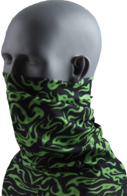 Schampa Tube, Mini-Flames Green, Multifunctional Headwear