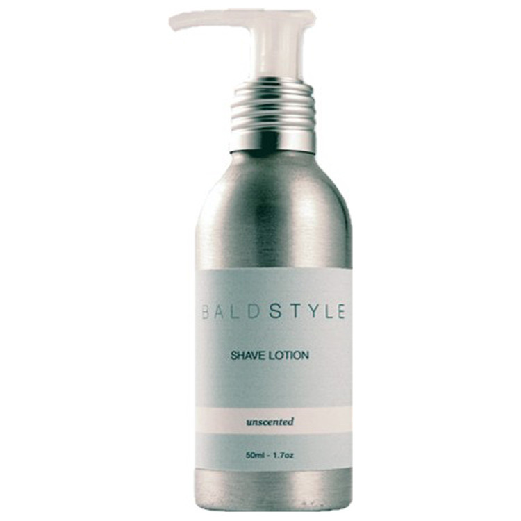 BaldStyle - Shave Lotion - White - Unscented - 4 oz