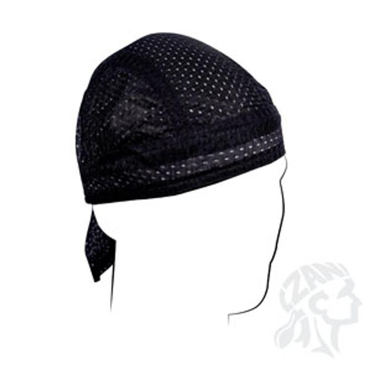 Zan Headgear Black Paisley Flydanna Biker Motorcycle Headband