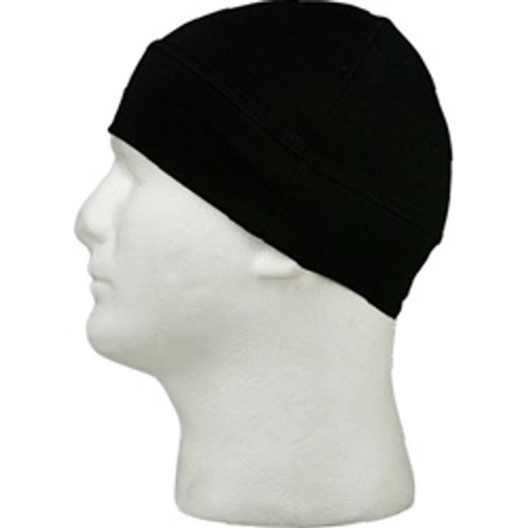 Skull Cap - Black - Double Layer Cuff