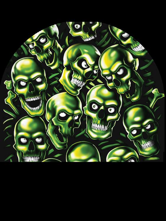 "Beanie - ""Green Skulls"" By American Mills"