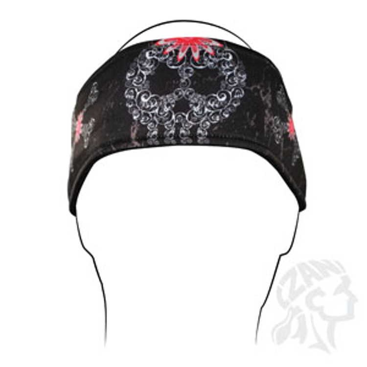Headband, Filagree Skull